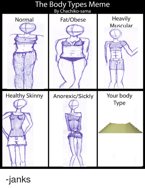 The Body Types Meme by Chachiko-Sama Heavily Normal FatObese