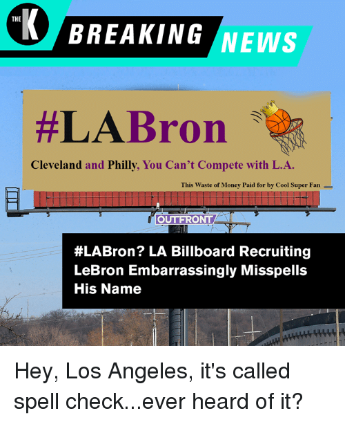 The BREAKING NEWS #LABron Cleveland and Philly You Can't Compete