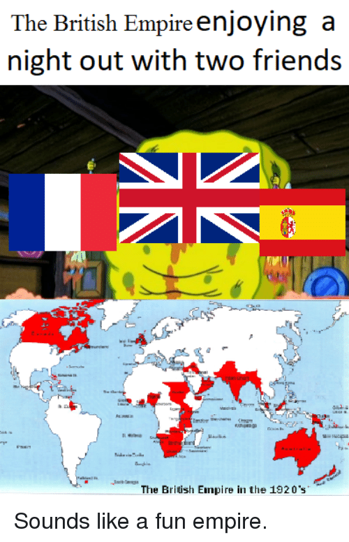 The British Empire Enjoying A Night Out With Two Friends