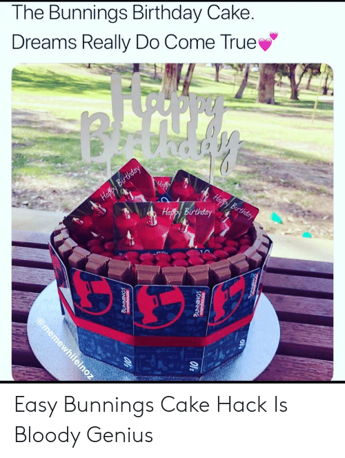 The Bunnings Birthday Cake Dreams Really Do Come True 223 Easy