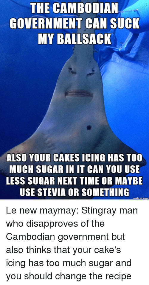The CAMBODIAN GOVERNMENT CAN SUCK MY BALLSACK ALSO YOUR CAKES ICING ...