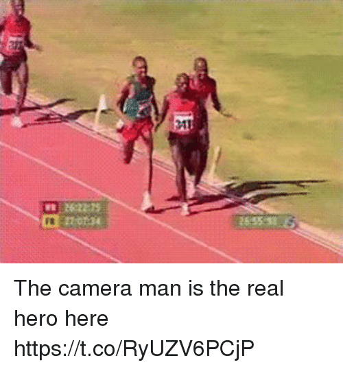 Camera, The Real, and Hero: The camera man is the real hero here https://t.co/RyUZV6PCjP