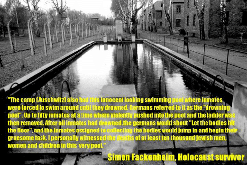 The Camp Auschwitz Also Had Iliisinnocentlooking Swimming Pool Where Inmates Were Forced To Swim