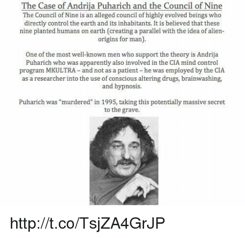 The Case of Andrija Puharich and the Council of Nine the