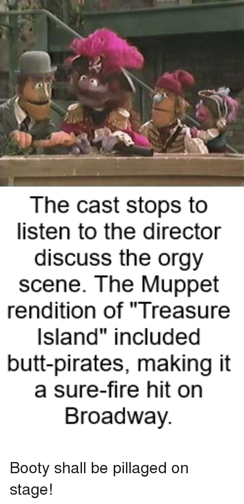 The Cast Stops to Listen to the Director Discuss the Orgy