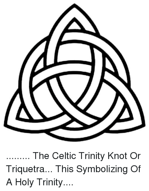 The Celtic Trinity Knot Or Triquetra This Symbolizing Of A Holy