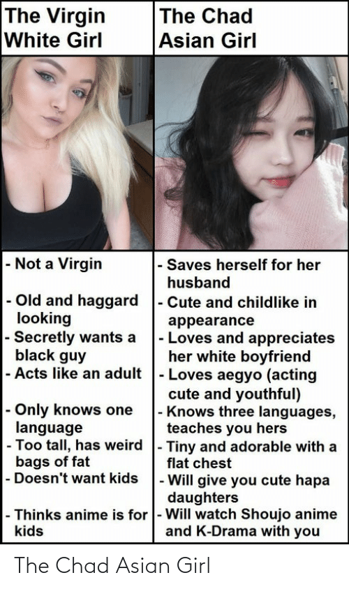Asian, Girl, and Neckbeard Things: The Chad Asian Girl