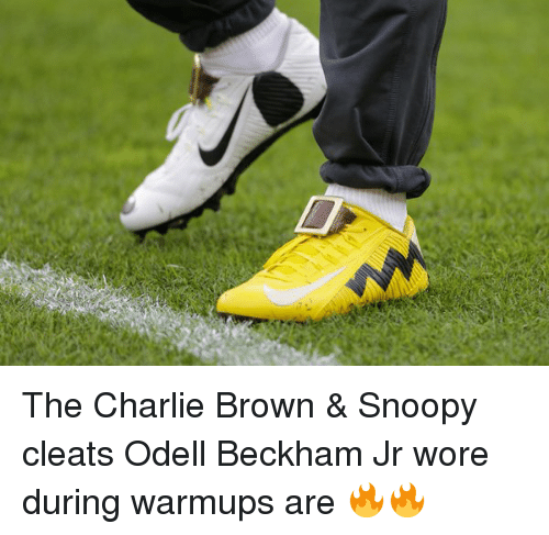 The Charlie Brown & Snoopy Cleats Odell Beckham Jr Wore During ...