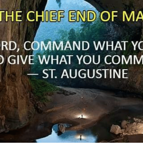 The Chief End Of Ma Rd Command What Yo Give What You Comm St
