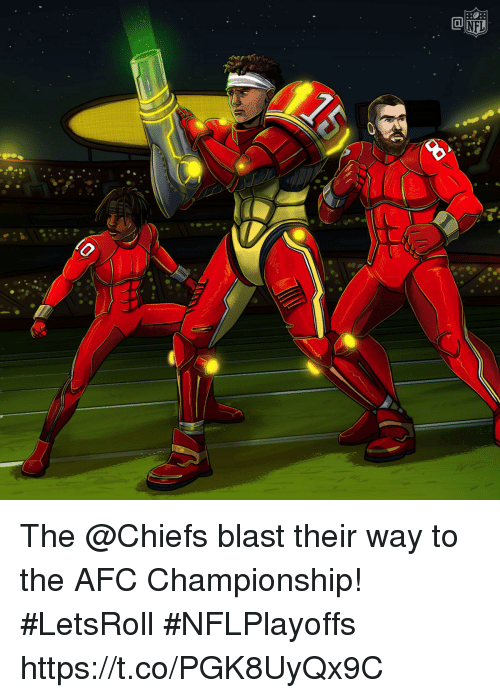 Memes, Chiefs, and Afc Championship: The @Chiefs blast their way to the AFC Championship! #LetsRoll  #NFLPlayoffs https://t.co/PGK8UyQx9C