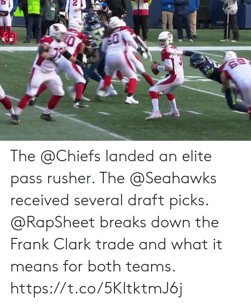 Memes, Chiefs, and Seahawks: The @Chiefs landed an elite pass rusher. The @Seahawks received several draft picks.  @RapSheet breaks down the Frank Clark trade and what it means for both teams. https://t.co/5KItktmJ6j