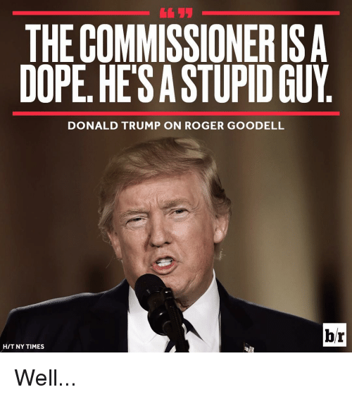 the commissionerisa dope hesastupid guy donald trump on roger goodell 13638573 the commissionerisa dope hesastupid guy donald trump on roger