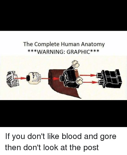 The Complete Human Anatomy WARNING GRAPHIC if You Don't Like