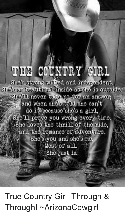 She s a country girl that