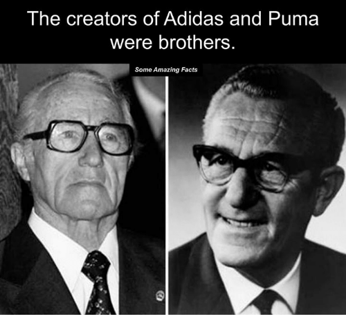 The Creators of Adidas and Puma Were Brothers Some Amazing Facts ... 1d4dd42009da