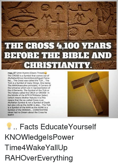 The Cross 4100 Years Before The Bible And Christianity Regg 87 Umm
