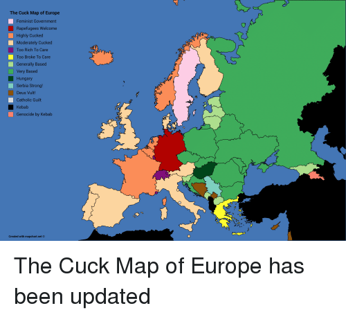 The cuck map of europe feminist government rapefugees welcome highly europe catholic and hungary the cuck map of europe feminist government rapefugees welcome gumiabroncs Image collections