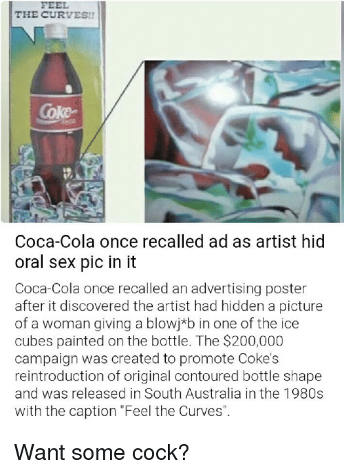 The CURVES!! Coke Coca-Cola Once Recalled Ad as Artist Hid