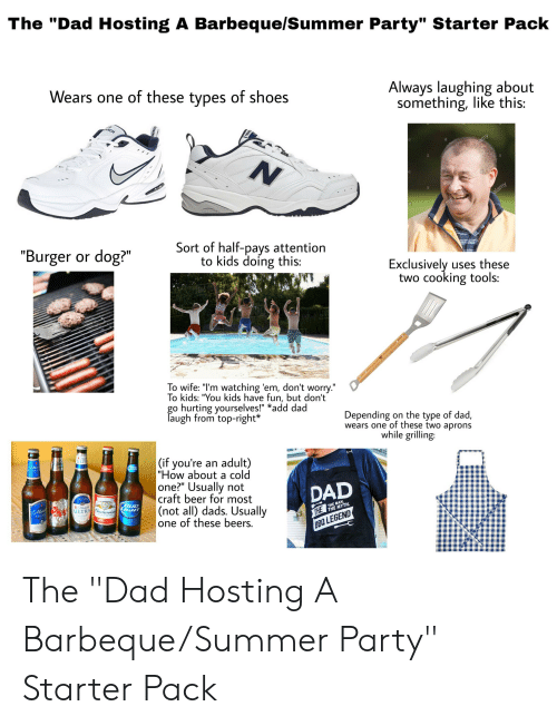 The Dad Hosting A Barbequesummer Party Starter Pack Wears One Of