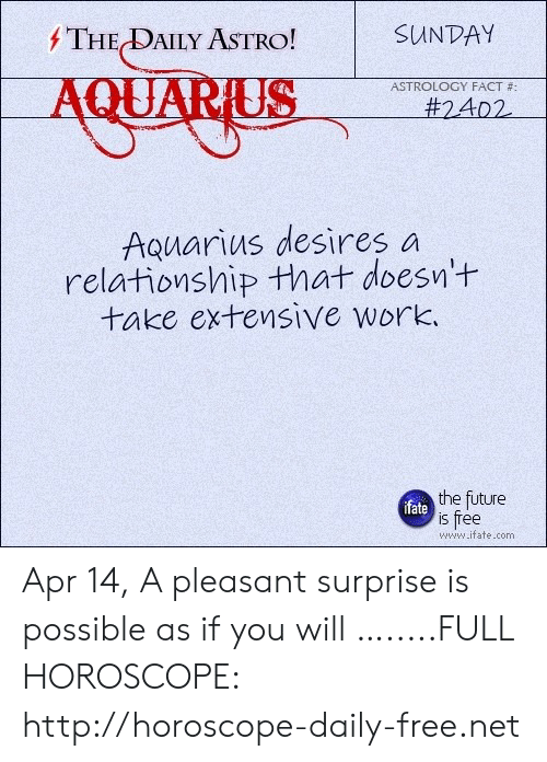 The DAILY ASTRO! SUNDAY QUARUS ASTROLOGY FACT # #2402
