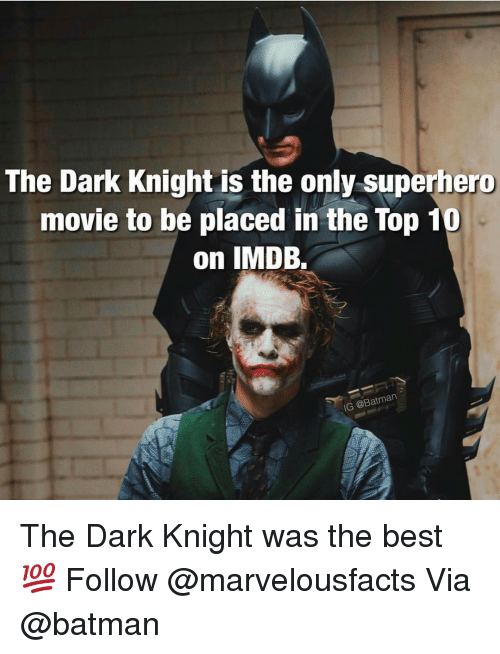 The Dark Knight Is the Only Superhero Movie to Be Placed in the Top