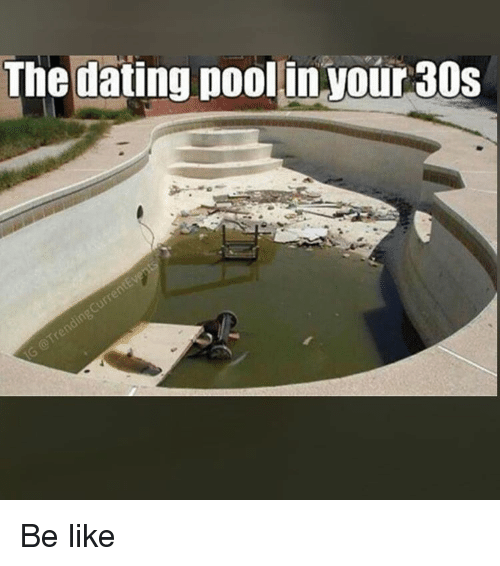 Dating pool in your thirties