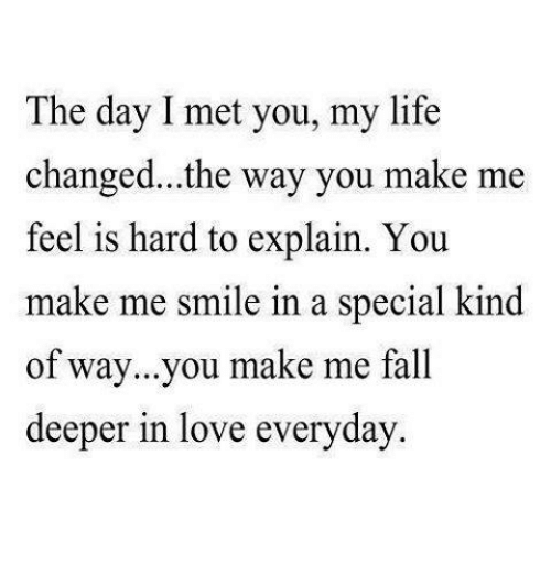 Fall, Life, And Love: The Day I Met You, My Life Changed
