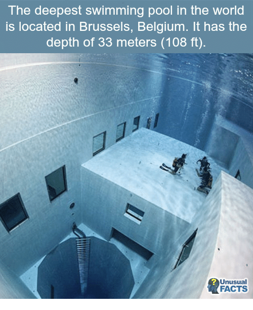 The Deepest Swimming Pool In The World Is Located In Brussels - Unusual-swimming-pools-around-the-world
