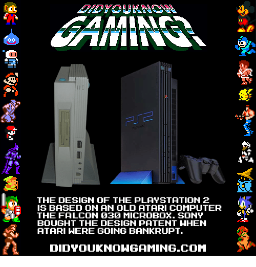 The DESIGN OF THE PLAYSTATION 2 IS BASED ON AN OLD ATARI