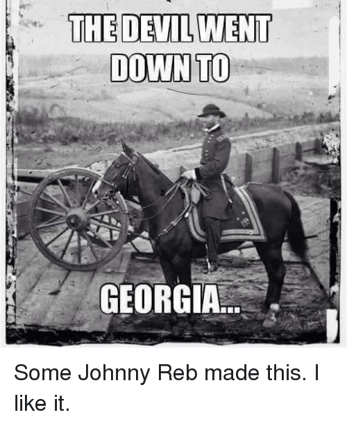 The Devil Went Down To Georgia Some Johnny Reb Made This I Like It