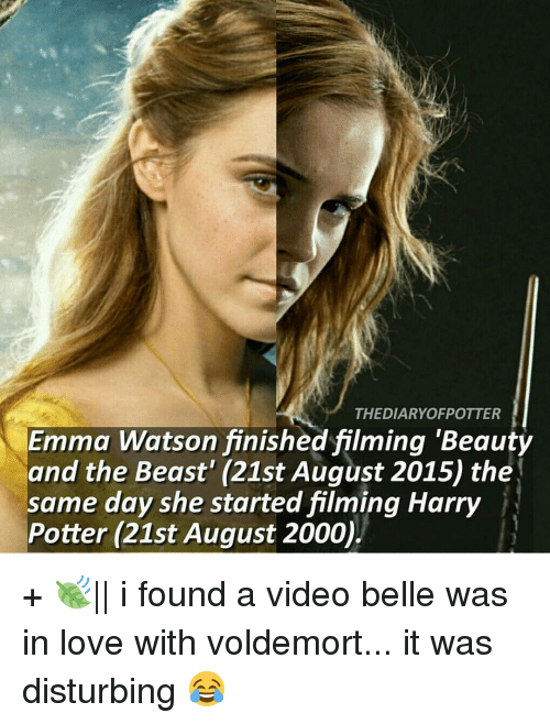 Emma Watson Memes And THE DIARYOFPOTTER Finished Filming Beauty