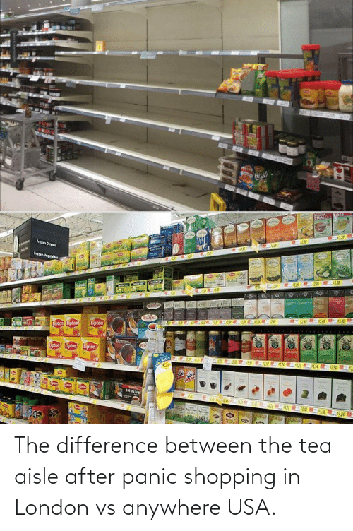 The Difference Between the Tea Aisle After Panic Shopping ...