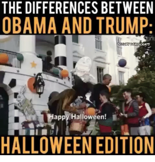 The DIFFERENCES BETWEEN OBAMA AND TRUMP lapplyHalloween! HALLOWEEN ...