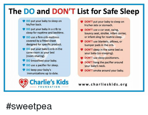 The Do And Don T List For Safe Sleep Do Put Your Baby To