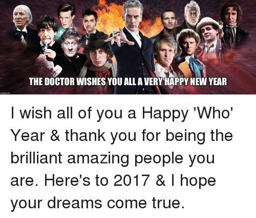 memes brilliant and the doctor the doctor wishesyou all avery happy new year