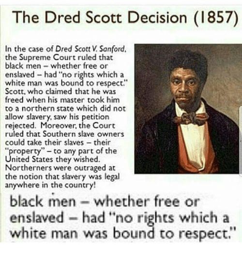 dred scott thesis Slavery term papers (paper 16046) on the dredd scott decision : introduction united states supreme court case scott v sanford (1857), commonly known as the dred scott case, is probably the most famous .