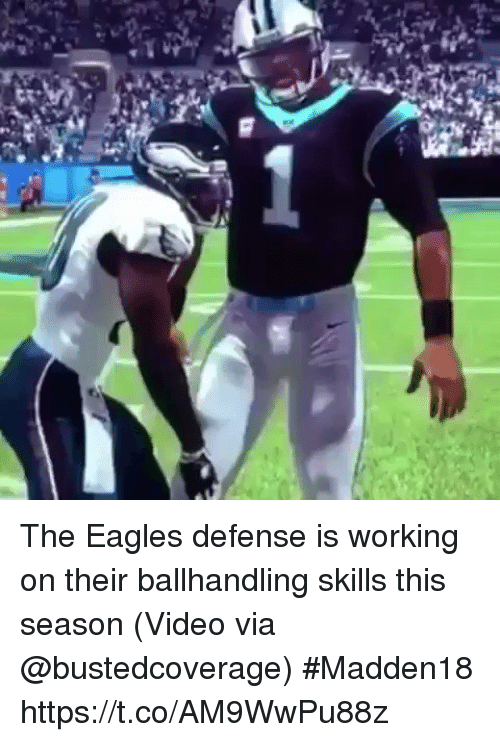 Philadelphia Eagles, Sports, and Video: The Eagles defense is working on their ballhandling skills this season   (Video via @bustedcoverage) #Madden18 https://t.co/AM9WwPu88z