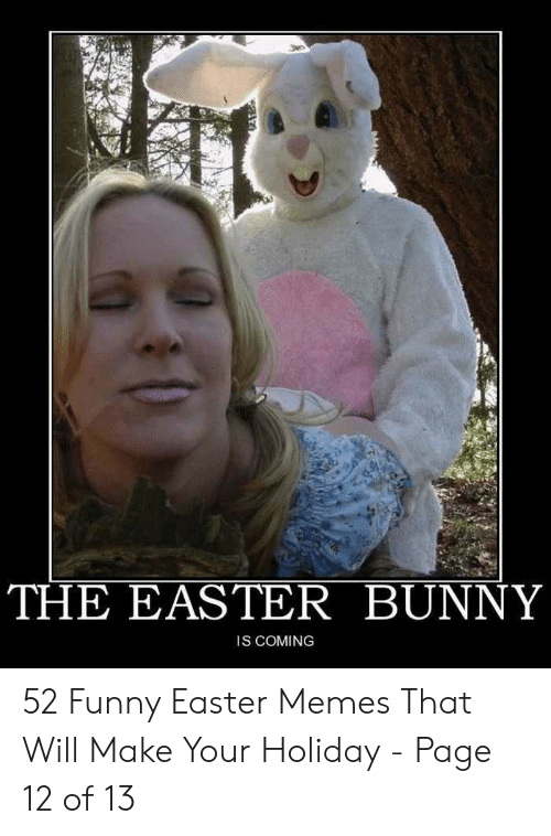 The Easter Bunny Is Coming 52 Funny Easter Memes That Will Make