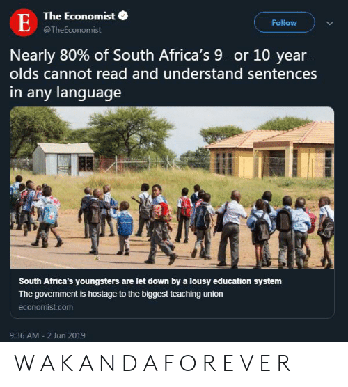 The Economist E Follow Nearly 80% of South Africa's 9- Or 10