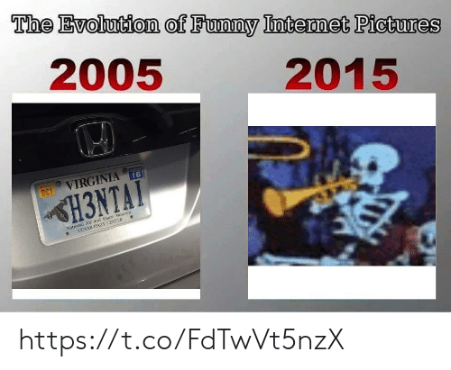 Funny, Evolution, and Pictures: The Evolution of Funny Intermet Pictures  2005  2015  16  VIRGINIA  OCT  H3NTAT  National Air and Space Muscum  UDVAR-HAZY CENTER https://t.co/FdTwVt5nzX