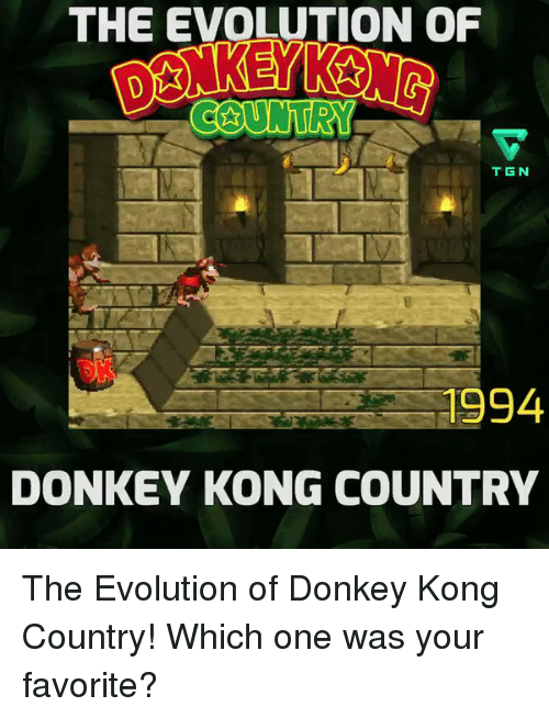 The Evolution Of Tgn 1994 Donkey Kong Country The Evolution Of