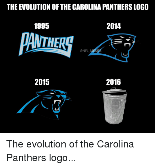 the evolution of the carolina panthers logo 2014 1995 2016 2015 the