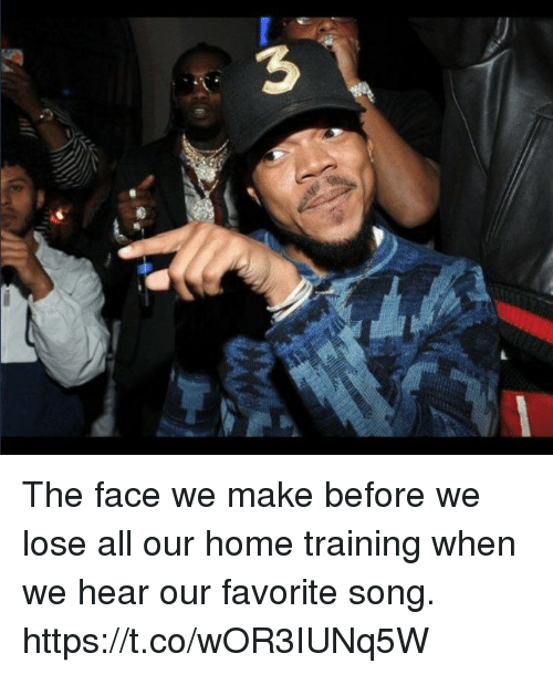 Funny, Home, and Song: The face we make before we lose  all our home training when we hear our favorite song. https://t.co/wOR3IUNq5W
