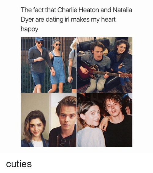 Charlie, Dating, and Happy: The fact that Charlie Heaton and Natalia  Dyer are dating irl makes my heart  happy cuties