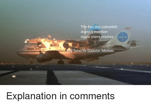 The Fact This Subreddit Doesn't Mention Major Plane Crashes