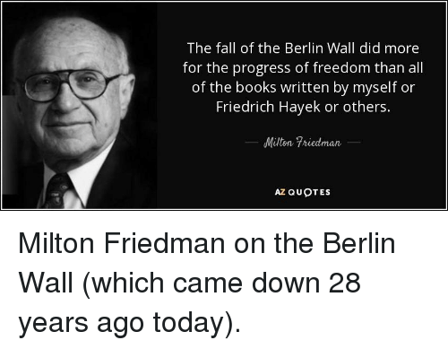 The Fall Of The Berlin Wall Did More For The Progress Of