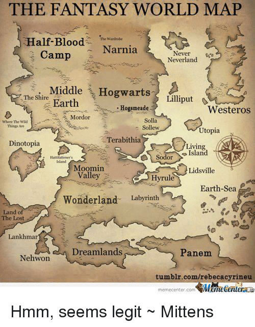 Captivating Bloods, Memes, And Maps: THE FANTASY WORLD MAP Half Blood Narnia.