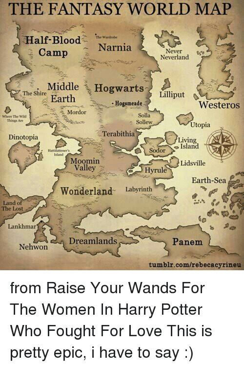 Bloods, Memes, And Earth: THE FANTASY WORLD MAP Half Blood The Wardrobe