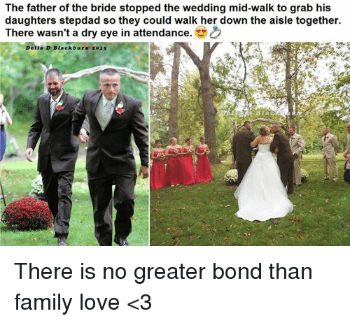 Family Love And Memes The Father Of Bride Stopped Wedding Mid