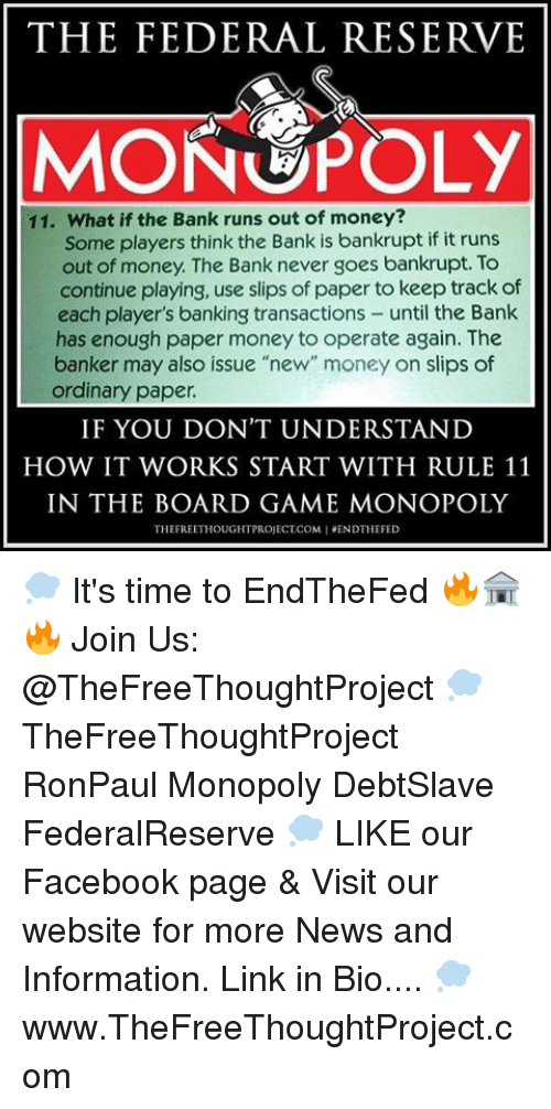 The Federal Reserve Monopoly 11 What If The Bank Runs Out Of Money